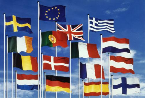 Europe Member State flags